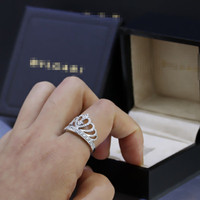 princess treasure home crown ring female models Korean version of the hipster luxury engagement wedding ring CJZBHLDH00031