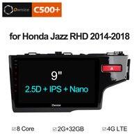 Ownice Android 8,1 4G автомобильный dvd 2 din радио для Honda Jazz правая рука вождения 2014 2015 2016 2018 2017 автомобильный Радио gps навигация