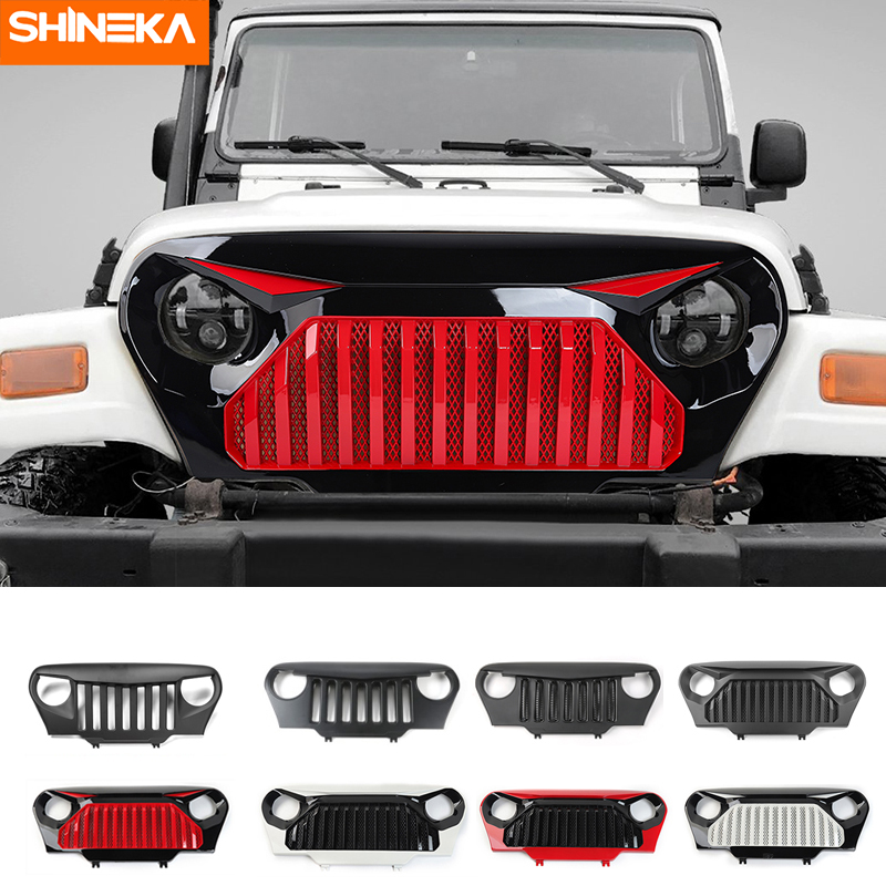 SHINEKA Racing Grills For Jeep Wrangler TJ 1997 1998 1999 2000 2001 2002 2003 2004 2005