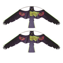 2x #1 Large Hawk Kite Toy Kit Decoy Bird Scarer Deterrent Protect Farmers Crops Outdoor Kids Toys Black Kites(China)