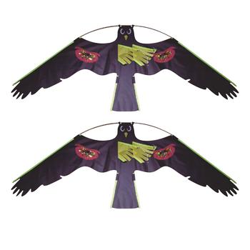 2x 1 duże Hawk latawiec zestaw zabawek ptak Decoy odstraszacz odstraszający ochronę rolników upraw dla dzieci na świeżym powietrzu zabawki czarne latawce tanie i dobre opinie