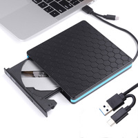 External DVD ROM Optical Drive USB 3.0 DVD RW DVD/CD Player Burner Type c Port CD Driver for MacBook Laptop