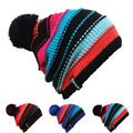 Unisex Hombres Mujeres Esquí Patinaje Cráneo Tapa Sombrero Gorros Sombreros de Invierno Cálido Tejer Cuello Alto Caps Gorra de Esquí Snowboard