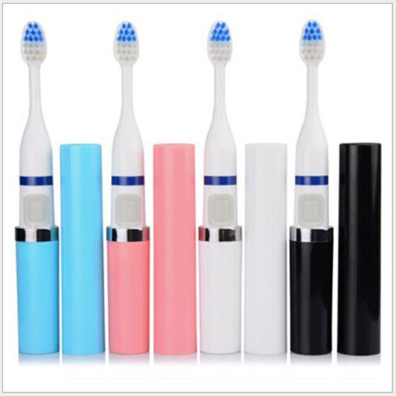 AT FASHION Lipstick shaped Electric Toothbrush Sound Wave Vibration Waterproof Toothbrush Oral Teeth Care with 3