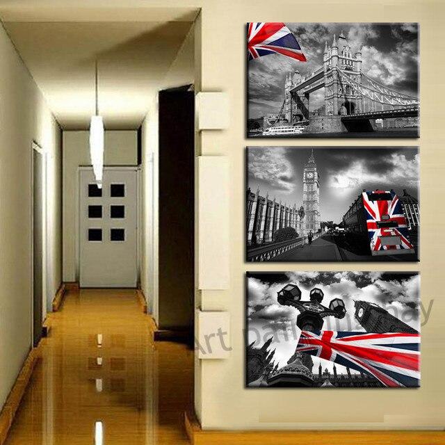 € 16.76 |3 Pièce Livraison Gratuite Vente Chaude Mur Moderne Peinture  Londres ville paysage Accueil Art Contemporain Photo Peinture sur  Impressions ...