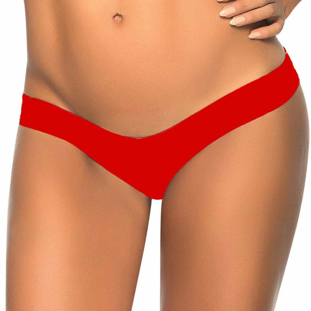 Brazylijski drukuj Bikini spodnie i spódnice strój kąpielowy stringi 2018 lato strój kąpielowy kobiet Lady Sexy plaża kostium kąpielowy stringi stringi dół XL #11
