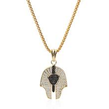 Индивидуальный Модный кулон в стиле ретро египетский фараон Королева ожерелье темпераментное благородное золото серебро медь Циркон ювел...