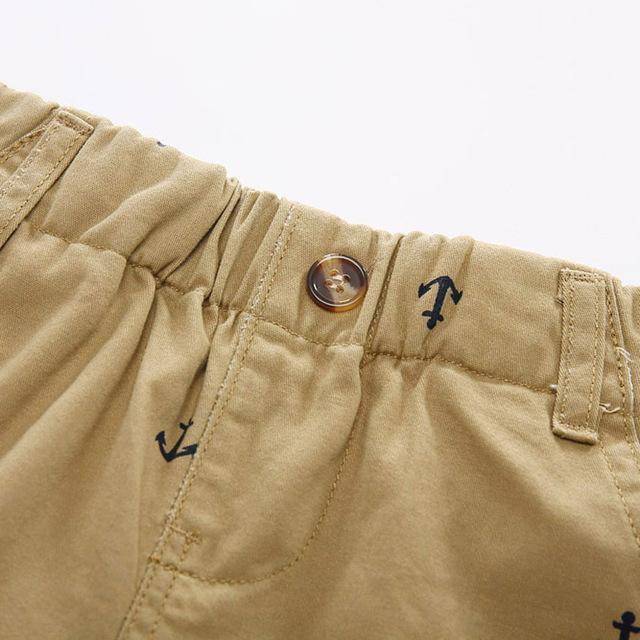 Summer Boys Active Shorts Children Cotton Elastic Waist Pants Toddler Kids Knee Length beach Pants Solid Color Baby Boys Clothes