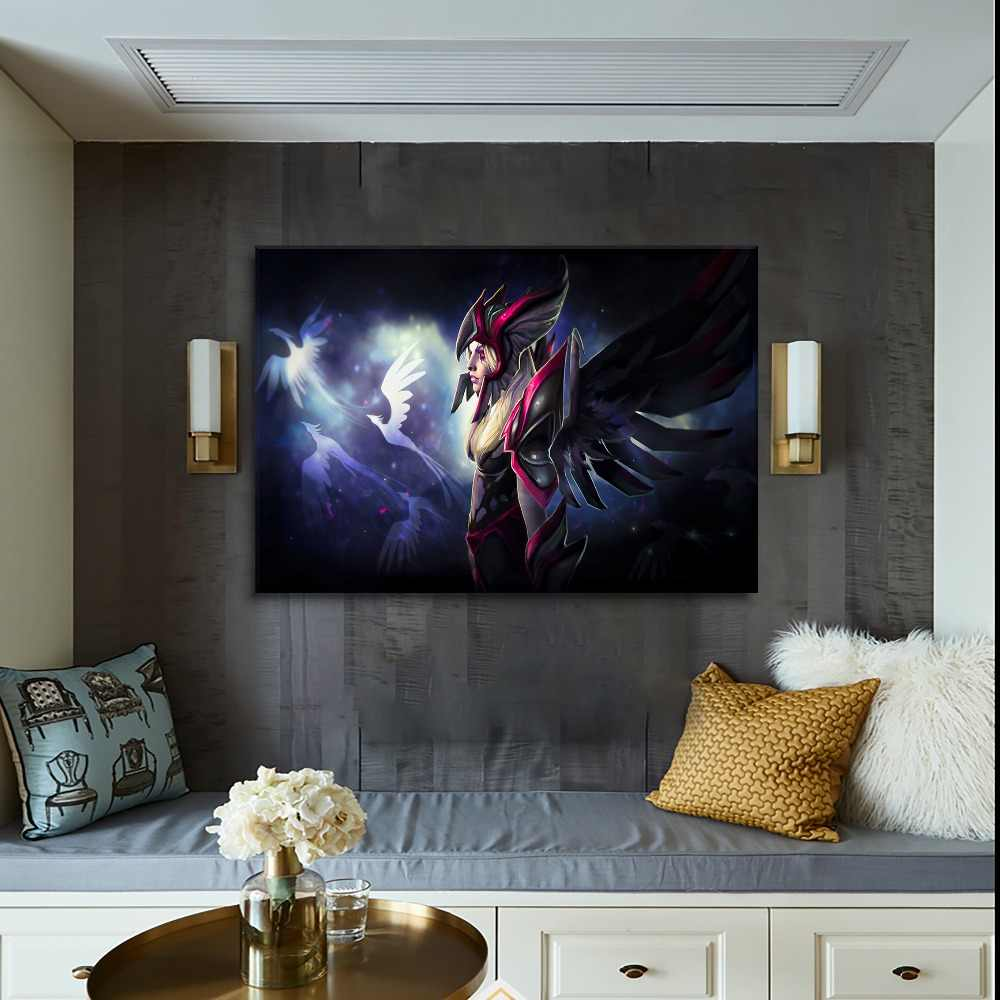 Canvas Wall Art Pictures HD Printed Type Living Room Or Bedroom Decorative  4 Pieces Vengeful Spirit Dota 2 Game Poster Framework