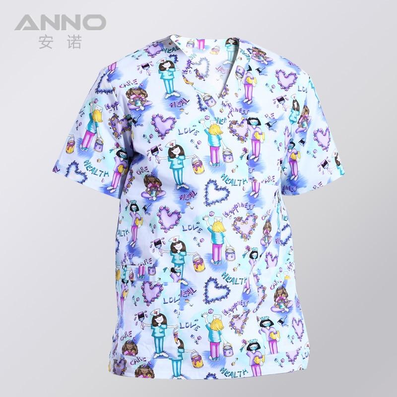 Image 4 - ANNO Medical Clothing Matching Women Men Cartoon  Hospital Nursing Scrubs Set Clinical Uniforms Surgical SuitScrub Sets   -