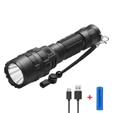 PANYUE Powerful Flashlight 18650 XM-L2 1000LM Led Flash light Portable Torch USB Rechargeable Tactical LED Torches Flashlights tactical flashlight led torch cree xm l2 waterproof flash light 18650 rechargeable battery tactical frame tail switch