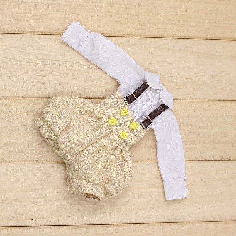 Neo Blythe Doll Suspender Suit with Puffed Shorts 3