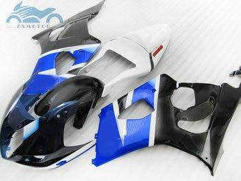High grade Fairing kits for Suzuki K3 K4 GSXR1000 2003 2004 motor sport racing fairings kit GSXR 1000 03 04 black blue BP62