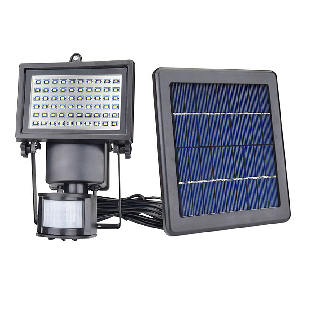 Solar Panel LED Flood Security Garden Light PIR Motion Sensor 60 LEDs Path Wall Lamps Outdoor Emergency Lamp pir motion sensor garden security path wall lamp outdoor led spot lighting 10w solar powered led flood light