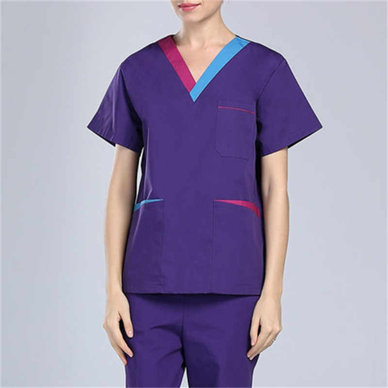 new Hospital Doctor Nurse Medical Work Wear Clothing Split Man Women V-neck Surgical Scrub Sets Seperated Uniforms