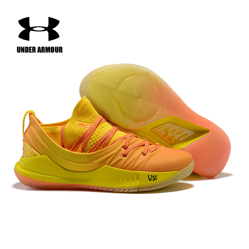 купить Under Armour Men's Curry 5 Basketball Sneakers Outdoor Athletic Light Cushioning Breathable Training Walking Shoes High quality по цене 3490.88 рублей