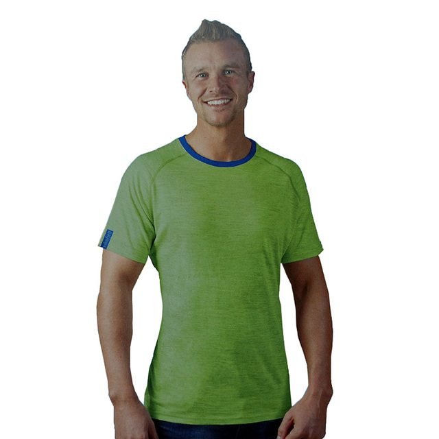 76dec9198a0 Superfine Merino wool mens Base Layer t shirt Sportswear Thermal Gym Tops  casual short sleeve