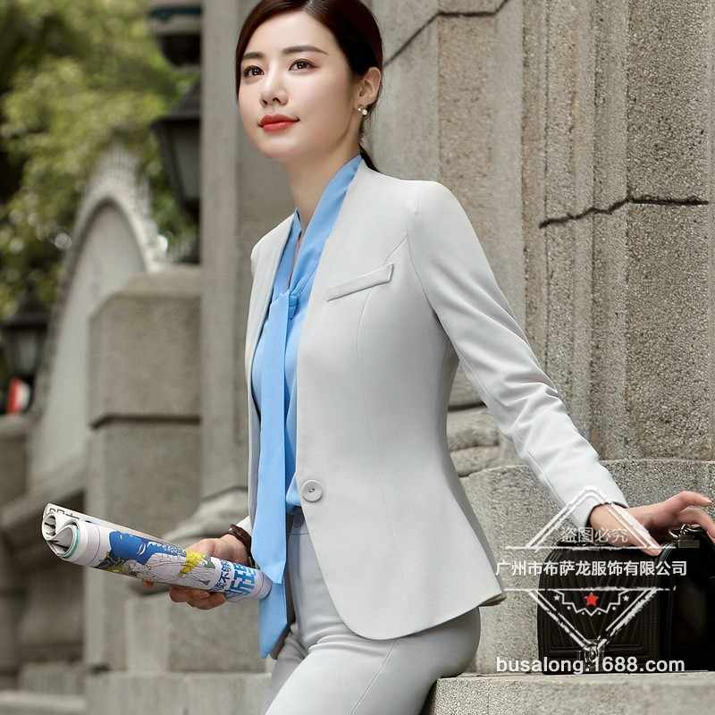 2020 Nieuwe Broek Past Vrouwen Office Lady Broek Blazer Set 2 Stuk Formele Broek Jas Pak Vrouwelijke Kleding Plus maat Xl