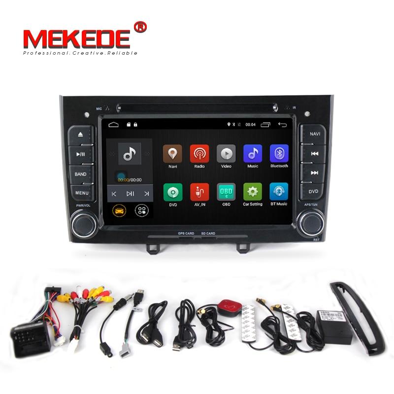 2din Quad Core Android 7.1 autoradio GPS Lecteur Pour Peugeot 408 308 wifi 4G LTE bluetooth DVD GPS 2G RAM soutien OBD2 DVR DAB +