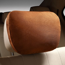 2pcs Car Headrest Maybach Design S Class Ultra Soft Pillow Suede Fabric Black/Beige/Brown For Mercedes Benz Pillow Accessories(China)