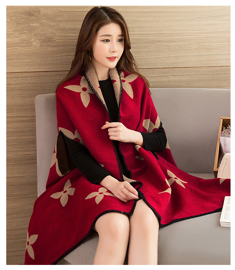 Shawl Scarf Dual-use Female Autumn Winter Hat Cloak Winter Joker New Style 68007