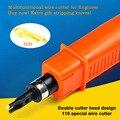 Rentable Ingeniero 110 AMP Módulo cortador de alambre herramienta de alambre Doble cabeza De Red módulo de panel de Conexión Telefónica de voz