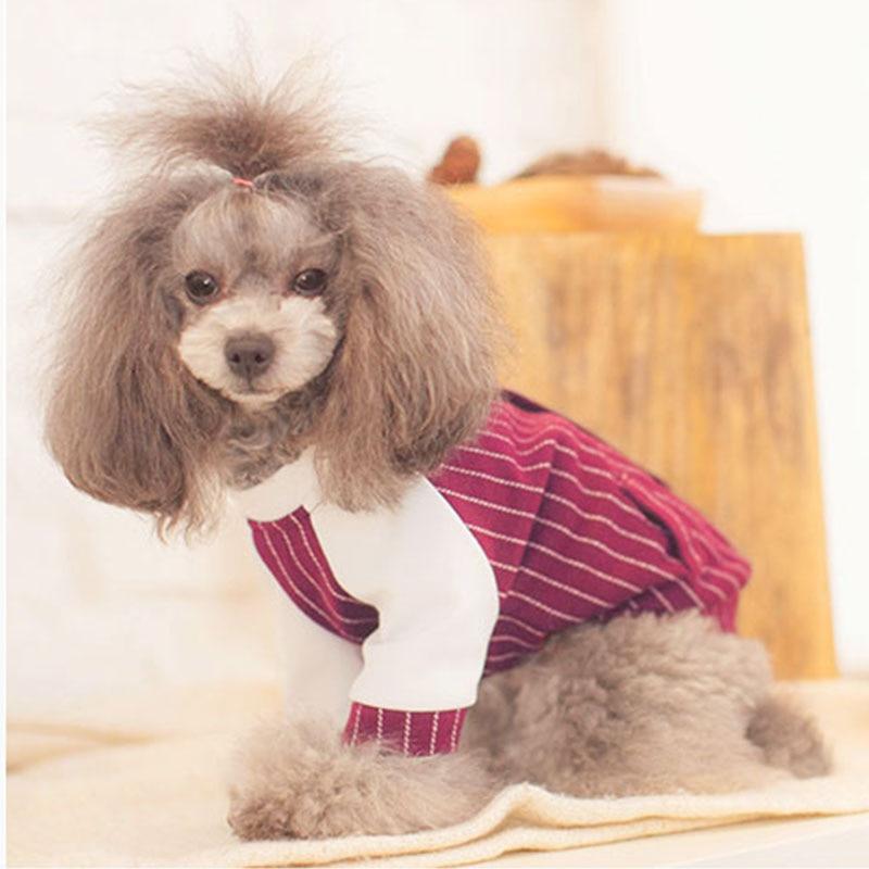 625efa5852c73 Strip small Dog pet cat sport shirt coat clothing light summer dog ...