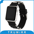 Silicone Rubber Watchband for iWatch Apple Watch 38mm 42mm Replacement Band Stainless Steel Buckle Wrist Strap Bracelet Black