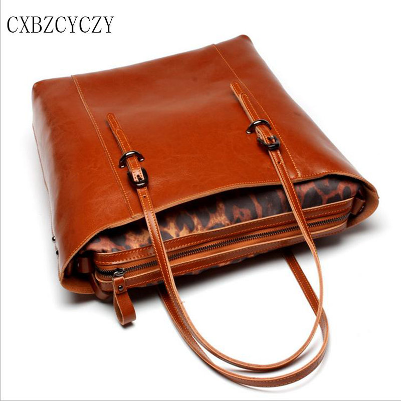 Casual Tote Women Shoulder Bags Cow Genuine Leather Women Bags Designer Brand Female Handbags Composite Bags Bolsa Dollar Price