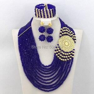 Image 5 - Splendid Nigeria Wedding Hạt Trang Sức Set Choker Necklace Set Phụ Nữ Châu Phi Bridal Jewelry Set Mới Miễn Phí Tàu GS217