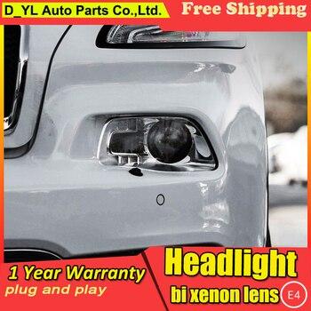 Car Styling Headlights for Cherokee 2014-15 LED Headlight for Cherokee Head Lamp LED Daytime Running Light LED DRL Bi-Xenon HID