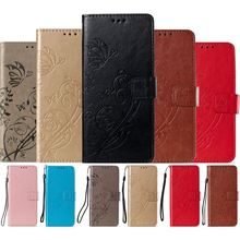 Flip Phone Case For Xiaomi Mi A2 Lite A1 5X Redmi 6A 4A Note 4 4X 5A 5 6 Pro Single Color Luxury Retro Wallet Stand Cover DP03E