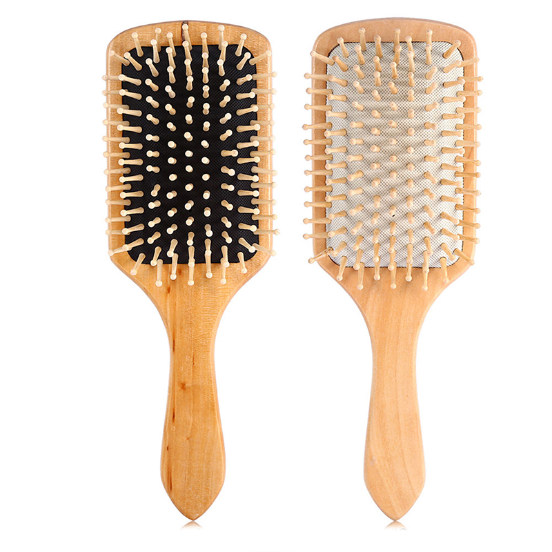 Massage Comb Paddle Brush Antistatic Combanti-static Natural Wooden Massage Hairbrush Comb Scalp Health Care Paddle Brush цены