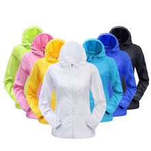 CALOFE Women Men Outdoor Sports Windproof Waterproof Quick Dry Jackets Rain Sunshade Coats Outwear Tops Candy Color Thin Jackets(China)
