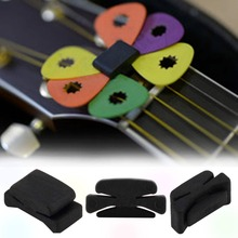 Professional 1Pcs Brand New Hot Rubber Musical Instruments Guitar HeadStock Pick Holder High Quality wholesale