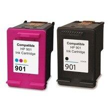 2PK Ink Cartridge For HP 901xl 901 Compatible J4580 J4500 J4524 J4530 J4540 J4550 J4640 J4680 Printer
