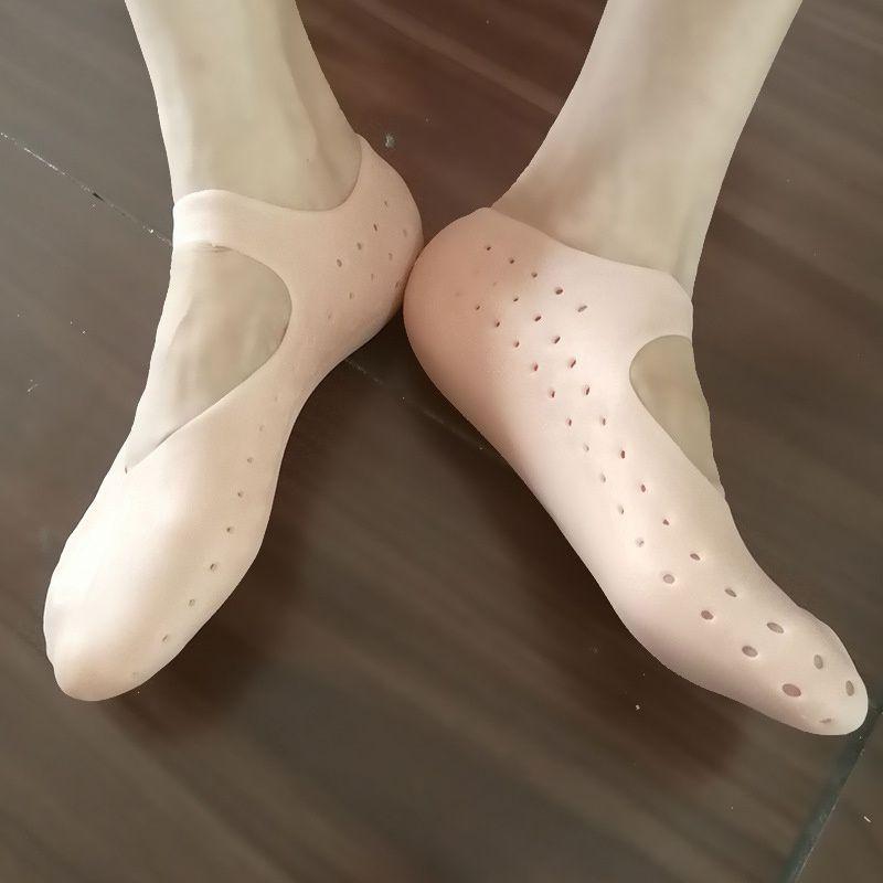 @1  1 пара дышащий увлажняющий носок для ног силиконовые гелевые носки трещины для ухода за ногами трена ★