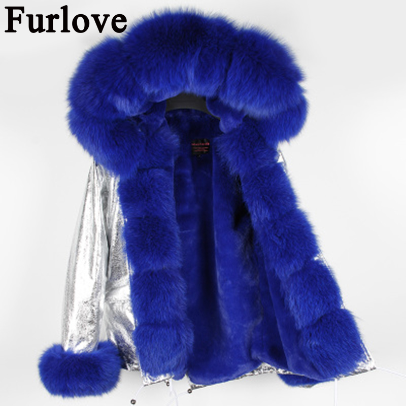 2017 Short Real Fox Fur Coat With Detachable Collar Women Winter Jackets Thick Warm Fur Lined Parka Natural Fur Coats Outerwear 2017 winter new clothes to overcome the coat of women in the long reed rabbit hair fur fur coat fox raccoon fur collar