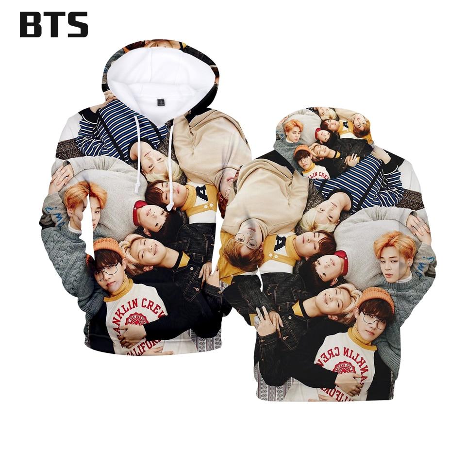 BTS 2018 Korean Idols 3D Hoodies Men/Women Fashion Anime Hooides Sweatshirts Creative Design Autumn Winter Hoodies Plus Size 4xl