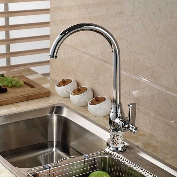 ФОТО Elegant Design Single Lever SwKitchen Sink Mixer Tap Chrome Finish