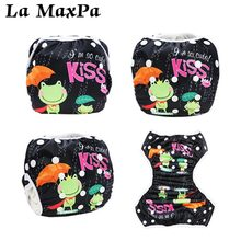 цены Baby Swim Diaper Waterproof Adjustable Cloth Diapers Pool Pant Swimming Diaper Cover Reusable Washable Baby Nappies