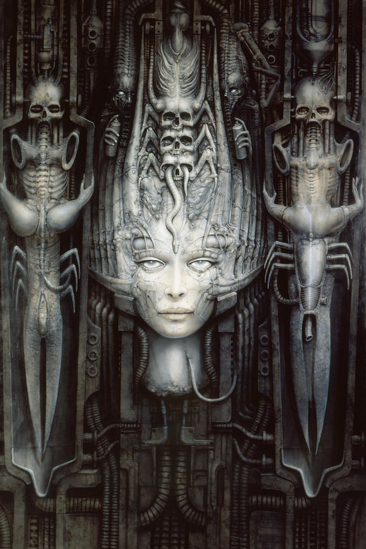 P0282 H.R.Giger Fantasy Art Alien Necronomicon Home Decor ... H.r. Giger Necronomicon