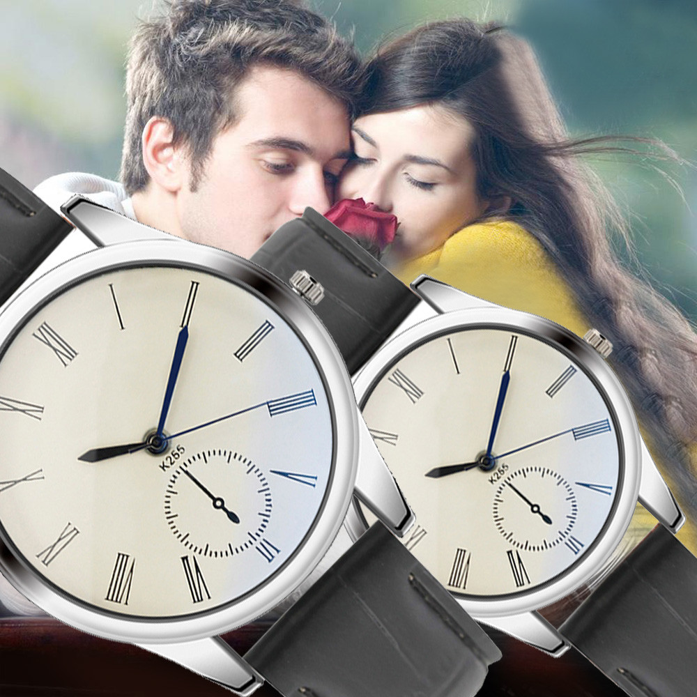 2019 Lover's Watch Fashion Women Mens Watch Analog Casual White Leather Strap Couple Watches Couple new arrival watch clock 40y