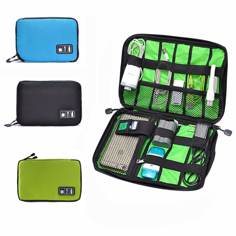 Outdoor Survival Waterproof Nylon Organizer Bag Electronic Accessories USB Drive Earphone Holder Bag Camping Equipment  Travel