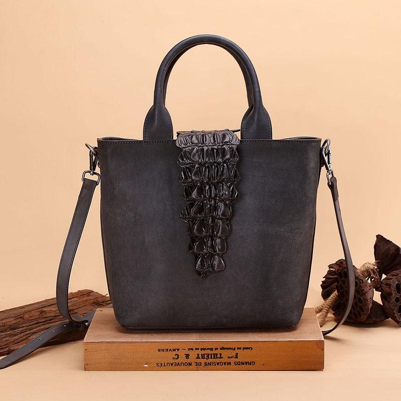 Брендовые женские ручной работы Винтаж натуральная кожаная сумочка дамы ретро сумка кожа коровы ручной напечатаны Для женщин сумки