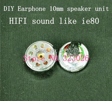 diy headphone material copper rings true 10mm bore strong bass speaker hifi sound like ie80
