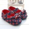 Zapatos de bebé Primeros Caminante Lindo de la Flor Inferior Suave Zapatos Del Niño para los Bebés