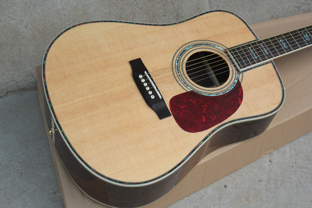 Free shipping Top Quality New Arrival Spruce Solid Wood Acoustic Guitar high quality solid wood guitar 41 inch spruce wood panel acoustic guitar guitarra free shipping