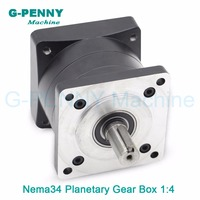 Gearbox 1:4 Nema34 stepper motor planetary reduction Ratio 4:1 planet gearbox 86 motor speed reducer, High Torque high quality !