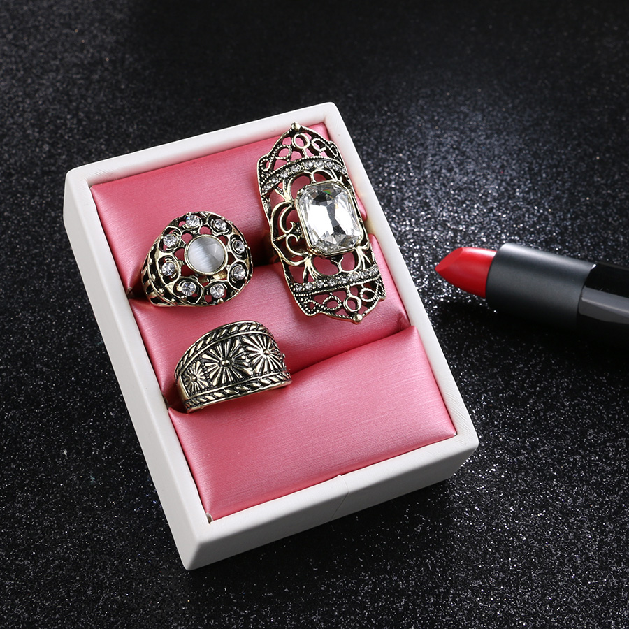 2017 New Punk Big Knuckle Rings Sets For Women Vintage Bohemia ...